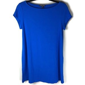 Eileen Fisher Blue Jersey Tunic Size Small